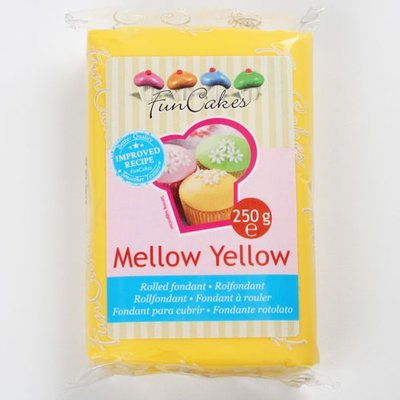 FunCakes Rolfondant Geel -Mellow Yellow- -250g-