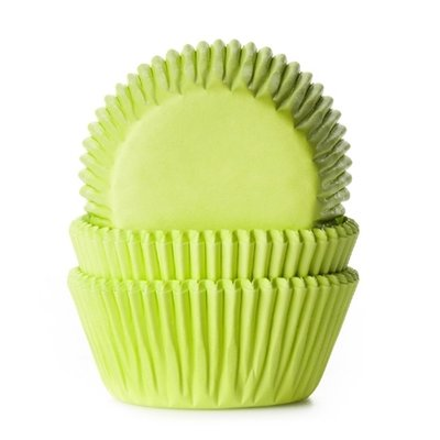HOM Baking cups Lime groen - pk/25