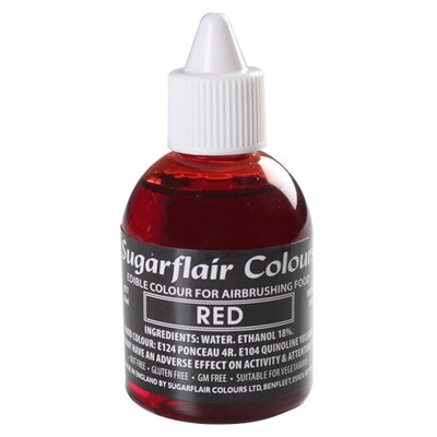 Sugarflair Airbrush Colouring -Red- 60ml