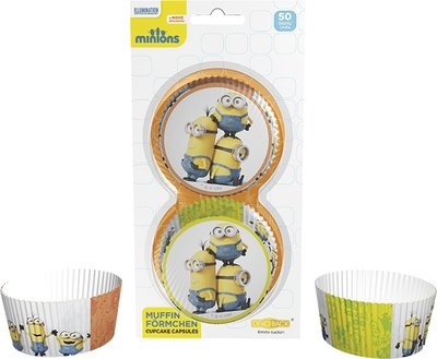Cupcake Baking Cups Minions, 50 st