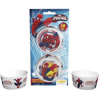 Cupcake Baking Cups Spiderman, 50 st