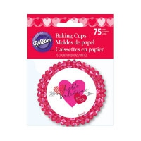 Wilton Baking Cups Heartfelt Confections pk/75