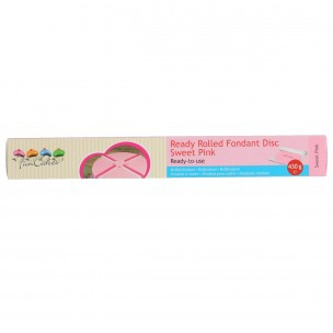 FunCakes Ready Rolled Fondant Disc -Sweet Pink-