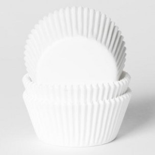 House of Marie Baking cups Wit - pk/25