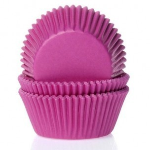 House of Marie Baking cups Fuchsia roze - pk/25